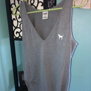 Victoria's Secret PINK Grey bodysuit tank